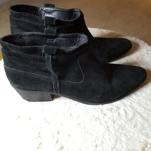 JOIE Ajax Suede Leather Bootie Black Size US 11